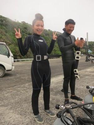 体験ダイビング港1