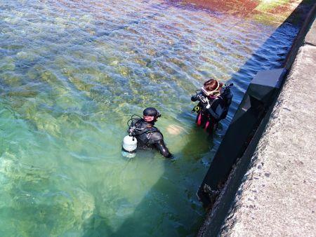 沖泊港スロープ体験ダイビング